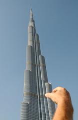 don't break it!  that's not a toy, that's the world's tallest building! (joyful JOY) Tags: building skyscraper dubai uae khalifa burj tallest