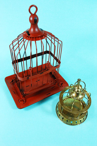Painted Brass Decorative Birdcage2