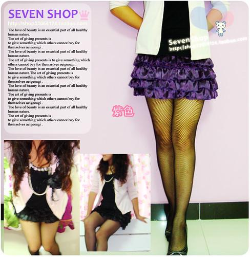 蛋糕绸缎裙纯色紫-004 拷贝