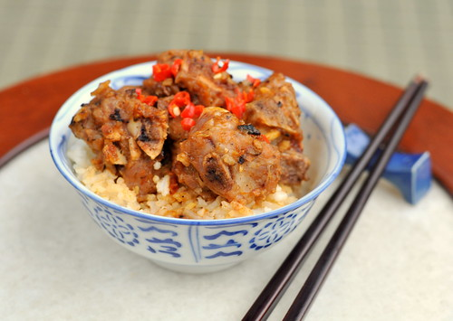 Steamed Chinese Black Bean Spare Ribs with Steamed Rice 豉汁排骨蒸飯