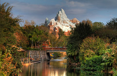 Expedition to Everest (explored) (Don Sullivan) Tags: world bridge reflection expedition asia disney explore fl waltdisneyworld walt everest animalkingdom expeditioneverest lakebuenavista photomatix canonef2470f28lusm canoneos7d goldpawaward animalkingdomhdr