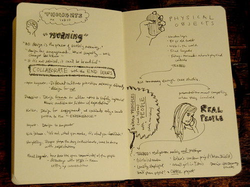 My notes on my overall thoughts from IxD '10
