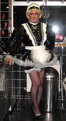 Bunny In PVC (Bunnymaid2) Tags: stockings highheels blonde transvestite suspenders miniskirt crossdresser shortskirts pvc bizzare frenchmaid heavymakeup frills blackstockings petticoats stockingtops pvcdress sissymaid frillyapron seamedstockings frillypetticoat pvcknickers