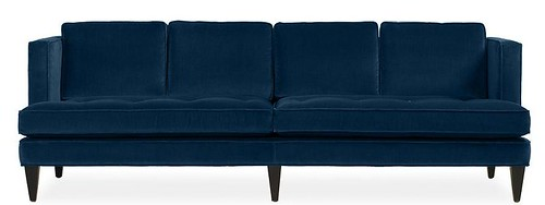 Blue Double Cushion Hutton Sofa - Room and Board