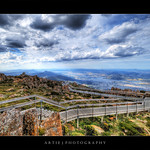 View from the Lookout Building of Mt Wellington, Hobart, Tasmania :: HDR