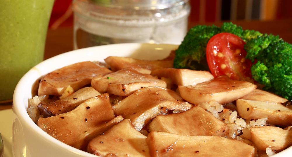 超好吃的杏鮑菇燉飯