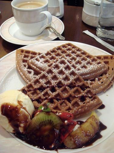 UCC waffle and coffee