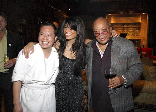 Chef Jack Lee, executive chef of The Echelon Club, Baroness Kimberly Moore, And Quincy Jones Prolific MUSICIAN, COMPOSER, PRODUCER