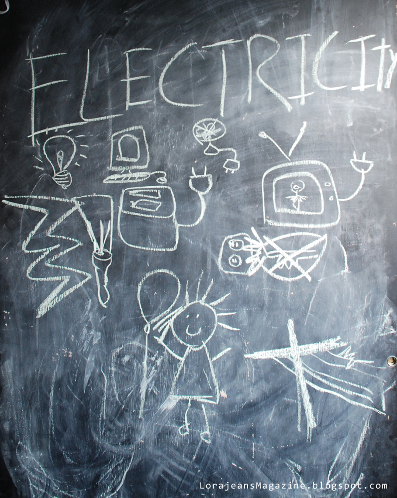 electricity on the chalk board