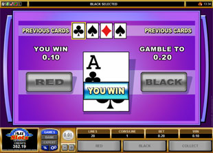 free Elementals gamble bonus game