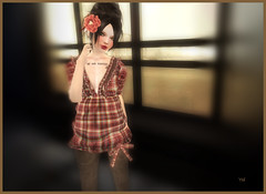 fashion addict avec  une fleur (Ys Ah) Tags: secondlife freebies tekuteku kyootarmy fashionsladdict myuglydorothy