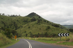 somerset (island home) Tags: road grass hill australia qld queensland roadway esk somersetdam