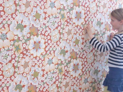Josef Frank wallpaper - Eldblomman