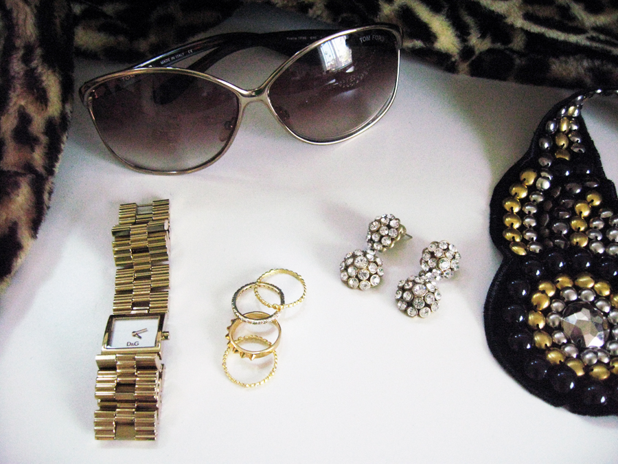 watch gold tone accessories tom ford sunglasses leopard