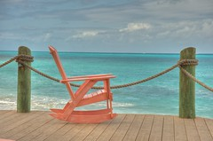 Rocking chair on the deck - Antigua, Mar 2010