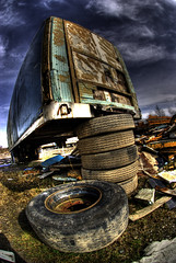 Trailer Graveyard 1 (Ray  H) Tags: england urban blackandwhite colour abandoned wheel manchester graffiti eyes arty decay wheels ruin rusty lorry commercial trespass through trailer waste derelict hdr trailers tyre bypass tipping ruined wasteland urbex dumped flytip tailer cadishead wrotten flickrdiamond manchester abansoned potd commercialnorthwest