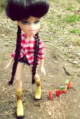 Coney: Farm Girl for Lydiathedollynerd's BNTM (GoneCookie.) Tags: carrots braids cowgirl peyton bratz highfashion farmgirl worldtwins