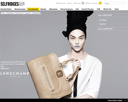 Brand Spaces on Selfridges.com