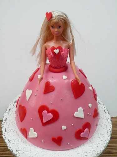 Hearts Barbie Cake