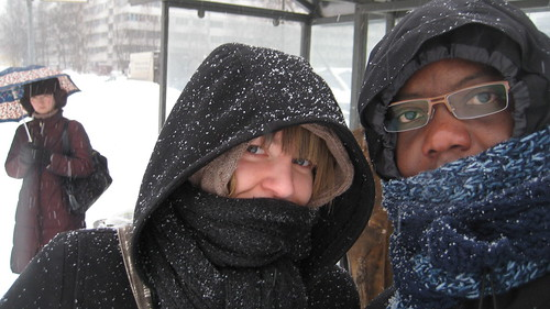 Amanda and Sam in the snow