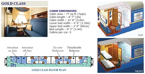 Golden Eagle Trans-Siberian Express - Gold Class cabin plan