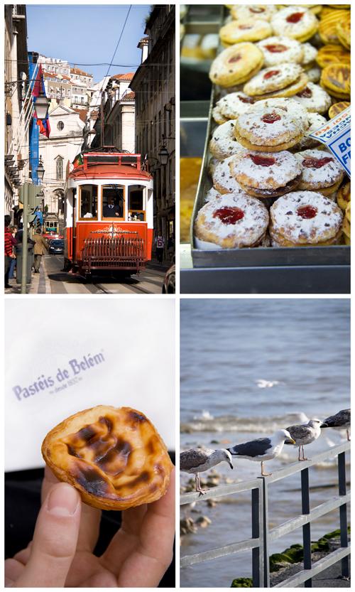 Collage Lisbona pasteis