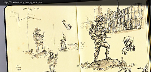 Sergeant Rocky Sketches - 2008