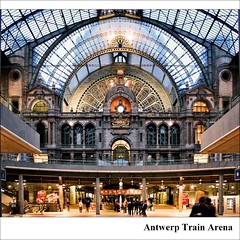 Antwerp Train Arena (Frank van de Loo) Tags: holland station belgium belgique gare thenetherlands belgië bahnhof trainstation antwerp belgica antwerpen estación anvers | haveaniceday treinstation antwerpencentraal middenstatie provincieantwerpen xxxxxxxxxxxxxxxxxxxxxxxxxxxxxxxxxx kopstation xxxxxxxxxxxxxxxxxxxxxxxxxxxxxxxxxxx spoorwegkathedraal stationantwerpencentraal ifyoulikepleaseleaveanote frankvandeloo evennotifideservethem pleasenobannersorawards thanksforvisitingmysite nmbssncb geo:lat=5121765 geo:lon=4420972