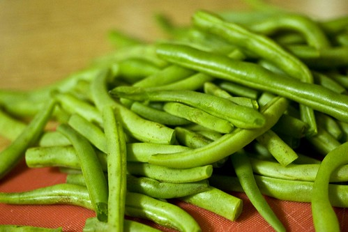 string beans, trimmed