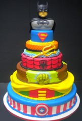Super Heros (its-a-piece-of-cake) Tags: robin spiderman superman hulk captainamerica aquaman superherocake superherocakebatman