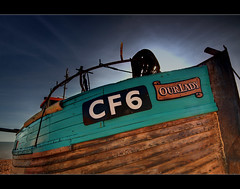 CF6 (Paul Merry) Tags: wood blue our beach lady sussex boat fishing raw shingle hastings photmatix cf6