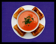 Grilled Cheese, Tomato Soup (Vision Images) Tags: columbus ohio food beautiful cheese canon tomato photography rebel soup book salad cook advertisement delicious grilled product crackers xsi tasy 450d visionimages mriehle1