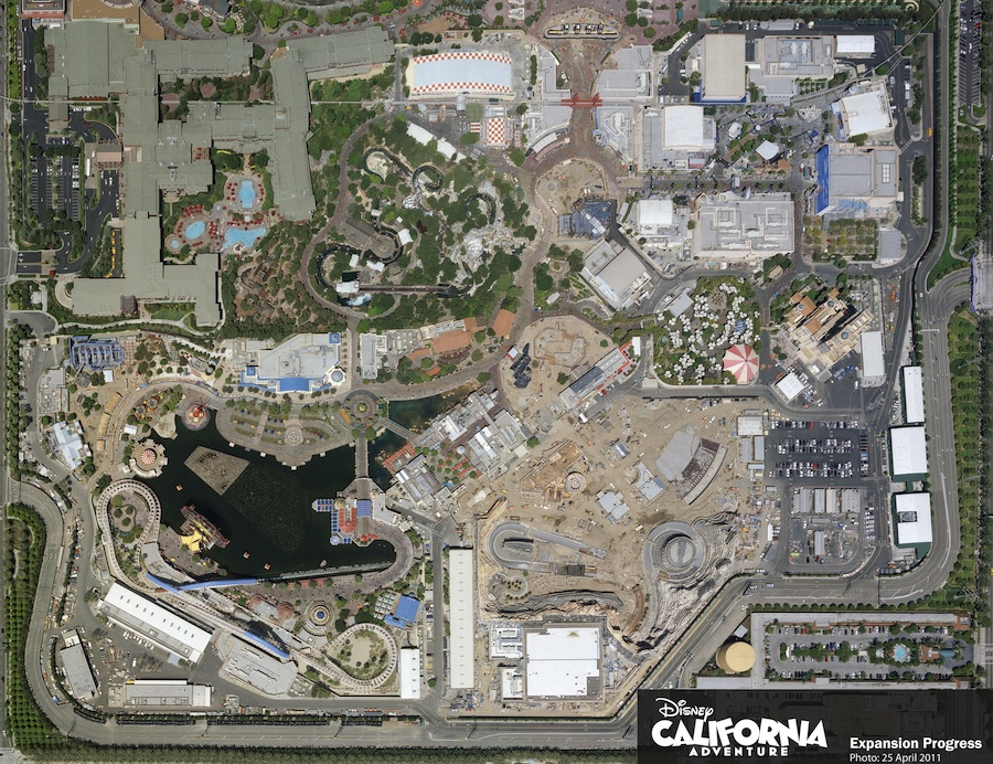 Aerial Image of Disney California Adventure Park