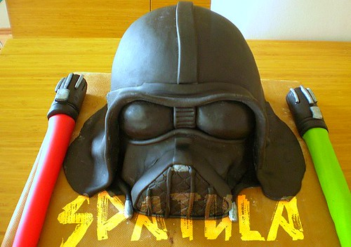 Darth Vader & Lightsaber Cake(Pasta) by Demetin spatulasi