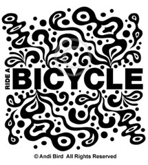 Ride a Bicycle - funky - t graphic (birdarts) Tags: bicycling bikes illustrations funky bicycles transportation mttam mountainbiking vectors whitetshirt sharetheroad clunker burningrubber fattires mountainbikes rideabike printedtshirt bestbike tshirtgraphics rideabicycle bikesnob biketshirt andibird saveacar savegastshirt