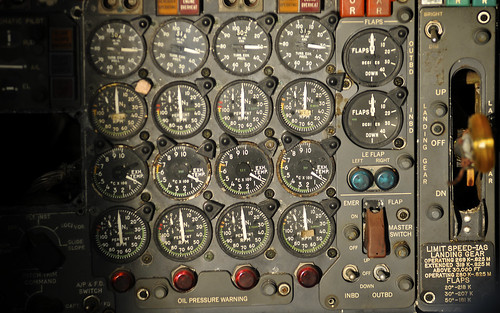 Boeing 707 Controls - Engine Readings