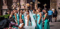 2016 - Mexico - San Miguel de Allende - Smile Please (Ted's photos - For Me & You) Tags: 2016 guanajuato mexico nikon nikond750 nikonfx sanmigueldeallende tedmcgrath tedsphotos tedsphotosmexico sanmiguel wedding weddingparty bridesmaids photographer bouquets flowers backpack dents teeth flash flashunit bride dresses gown weddinggown smiles group portrait pose posing shadow bracelet purse tiara flowergirl females female girls cropped vignetting people peopleandpaths earrings
