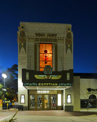 DeKalb, IL Egyptian Theater (army.arch) Tags: dekalb illinois il downtown historic historicpreservation nrhp nationalregister nationalregisterofhistoricplaces night city photography bluehour theater movietheater cinema architecture egyptianrevival