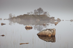 Rannoch Moor (John_Kennan) Tags: autumn mist reflection fall water dawn scotland highlands frost moor rannochmoor