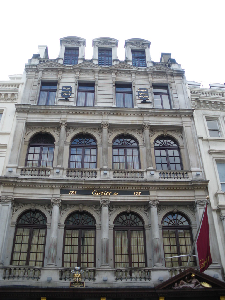 The Cartier House - The Luxury watchmaker - at London's Bond Steet - April 2009! What's the time, darling?