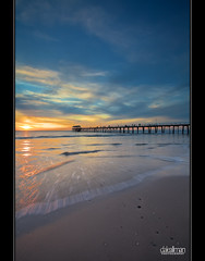 Another Sunset at Henley (Dale Allman) Tags: ocean sunset sky seascape motion reflection beach nature water clouds seashells canon sand surf waves jetty shell australia wideangle explore adelaide southaustralia 1740 henleybeach henleybeachjetty henleyjetty canon5dmkii 5dmkii