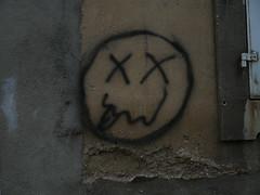 graffiti nancen amusant (alainalele) Tags: france les internet creative commons nancy bienvenue lorraine licence villers presse bloggeur laxou paternit