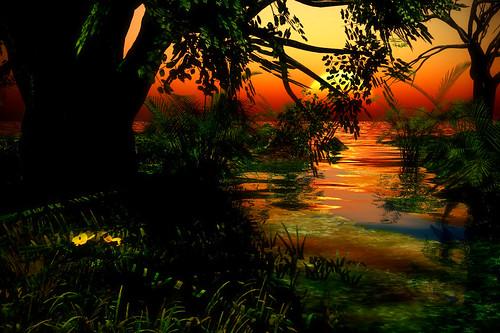 Jungle sunset 2