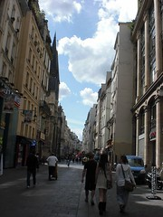 Sunny Day (Quru-li (I'm back!! trying to catch up...)) Tags: street travel blue sky people paris france back europe