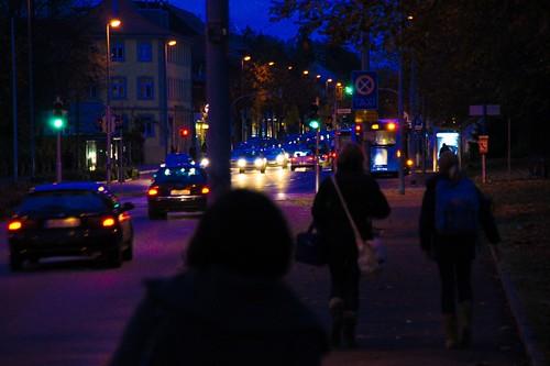 Die Straßen bei Nacht