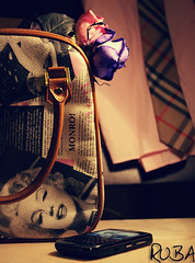 (  | Ruba , [ AWAY ]) Tags: pink flowers black cute marilyn bag blackberry marilynmonroe monroe saudi curve burberry ksa ruba