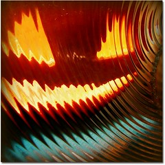 312/365 - Echoes of Halloween... (ElbtheProf) Tags: distortion abstract square pumpkin glow again sprouting festering project365 swirlyglass
