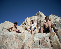 023 Lunch At Deep Creek Hot Springs (saschmitz_earthlink_net) Tags: california rock lunch hike 2009 deepcreek jamesrice anthonysmith danielveelik