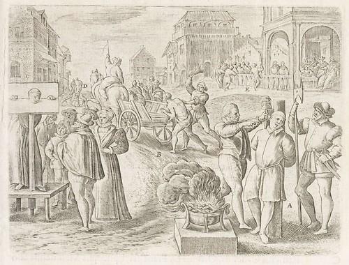 Persecutiones adversus Catholicos à Protestantibus Caluinistis excitae in Anglia d