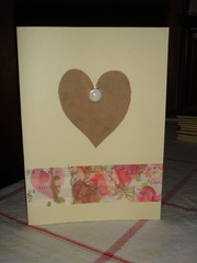 Valentines Card (Red Biddy) Tags: paper heart handmade button valentinescard